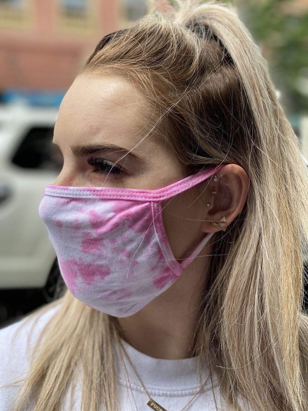 Washable & Reusable Mask - Pink Tie Dye