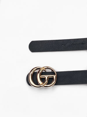 Designer Inspired Black Belt - bigcityboutique