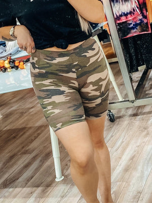 Just Go With It Biker Short - Camo