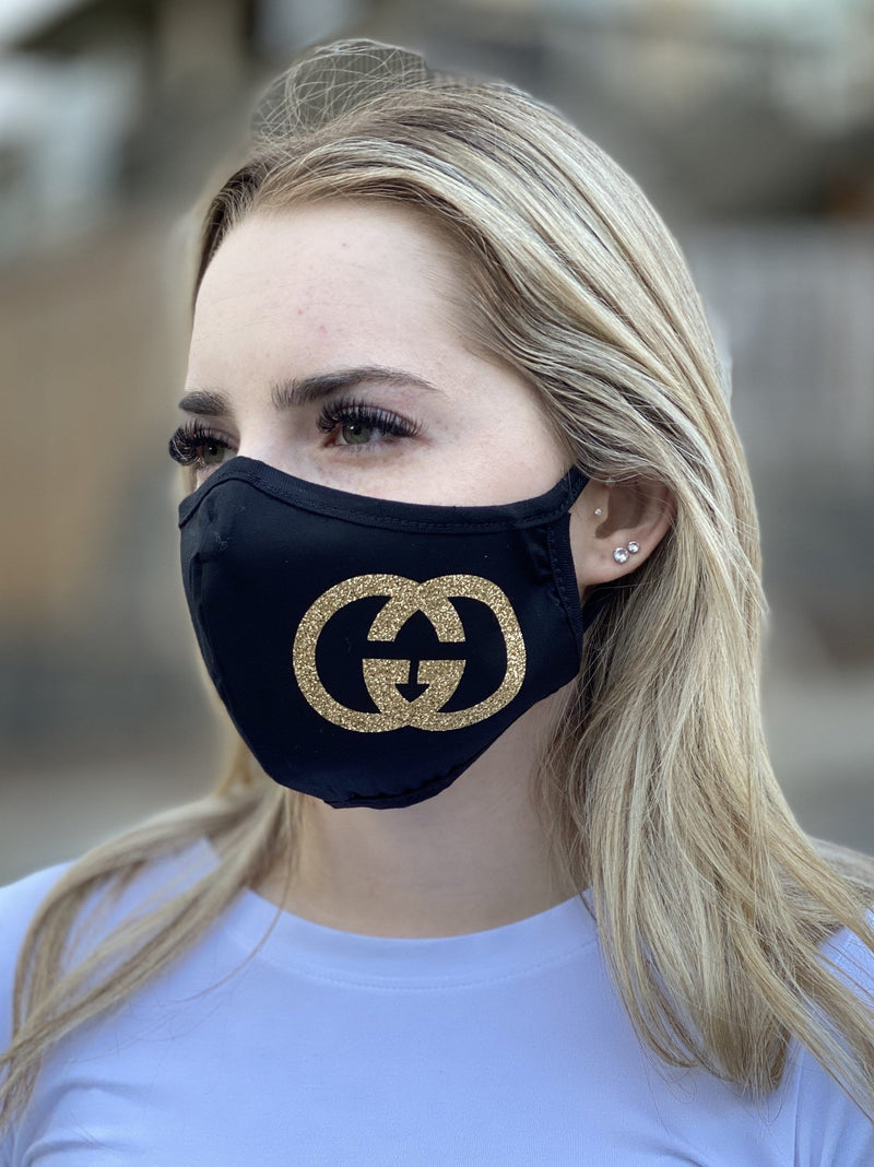 Mask - GG (gold glitter)