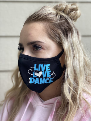 Mask - Live Love Dance (blue & white)