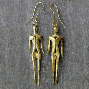 Brass Couple Earrings