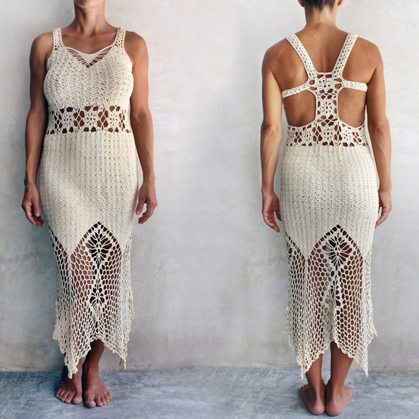 Crochet long dress