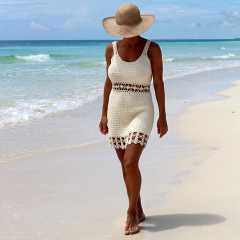 Crochet short dress