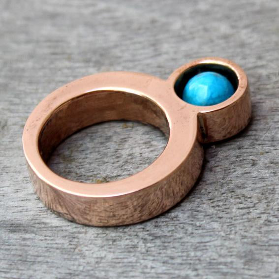 Eternity Copper Ring with Howlite