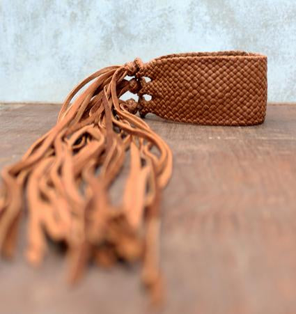 Fringe Leather Bracelet