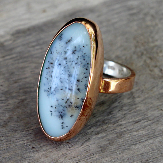 Copper Ring with Dendritic Agate