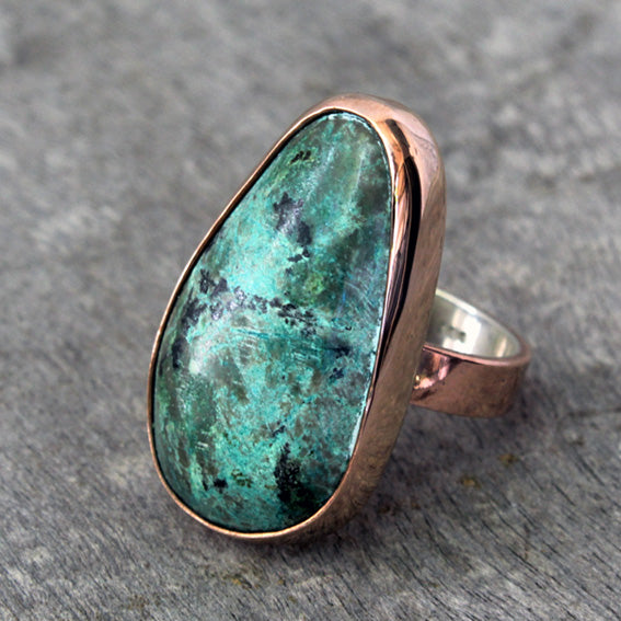 Copper Ring with Turquoise