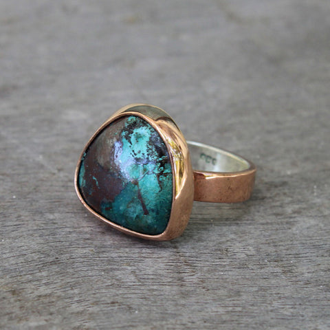 Copper Ring with Turquoise Arizona
