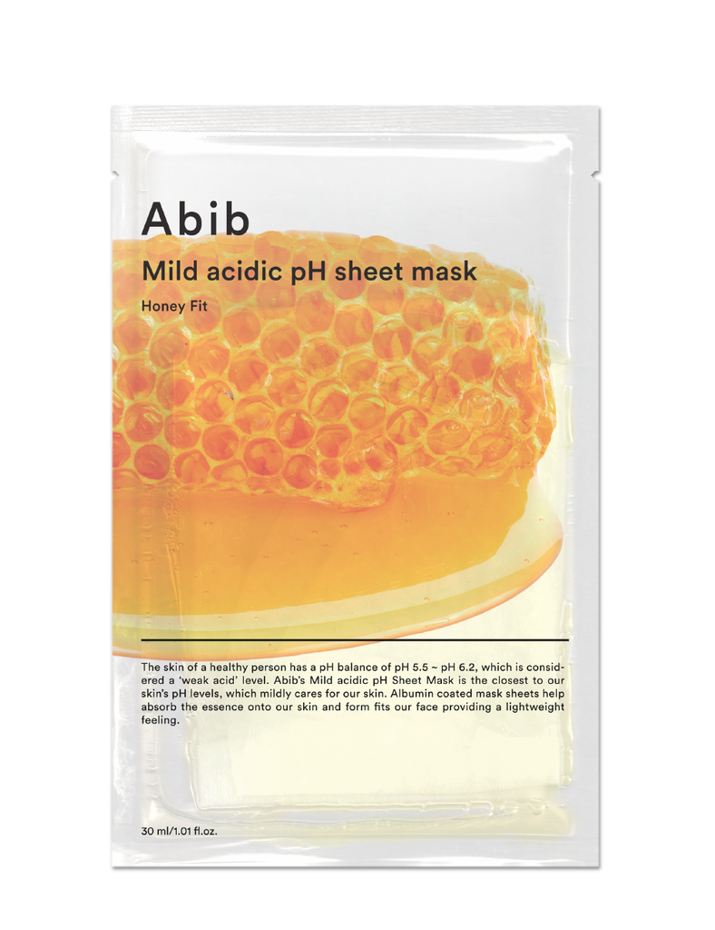 Mild Acidic Ph Sheet Mask Honey Fit 30ml
