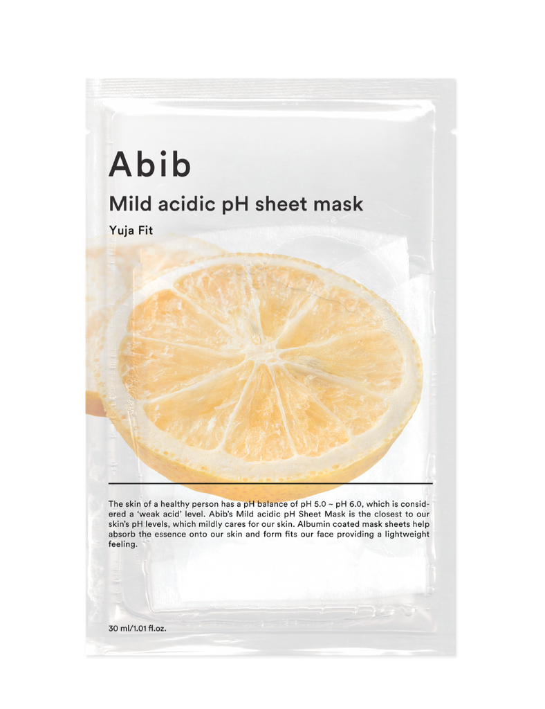 Mild Acidic Ph Sheet Mask Yuja Fit 30ml