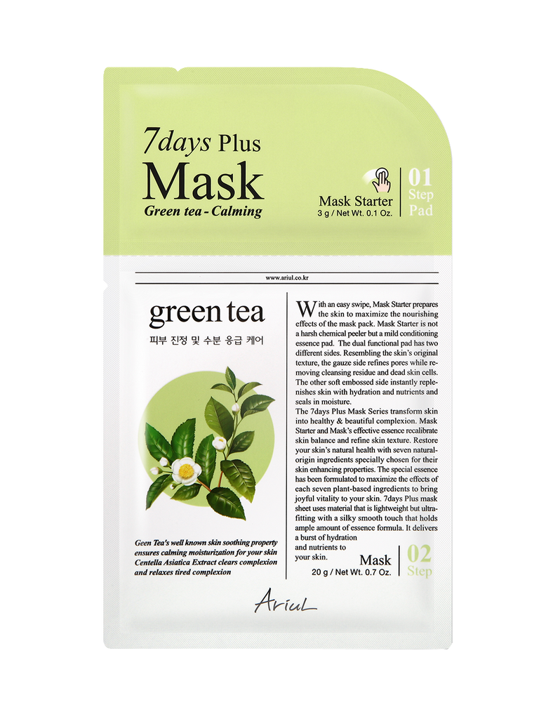 7 Days Plus Mask - Green Tea 1pc