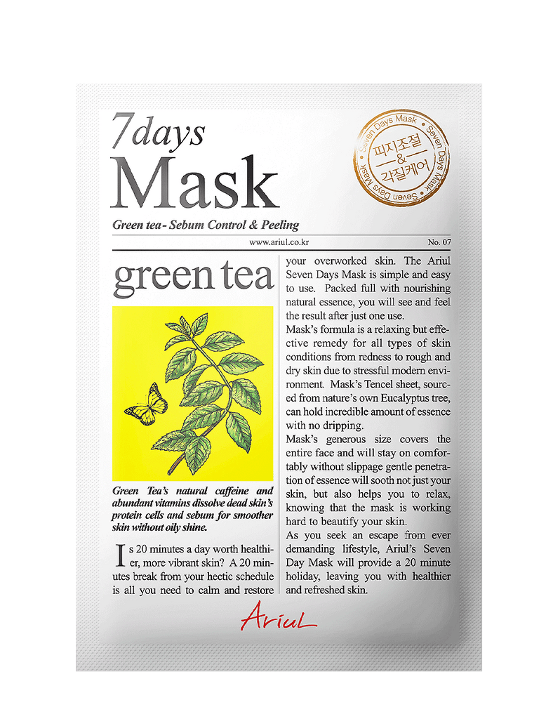 Seven Days Mask - Green Tea 1pc
