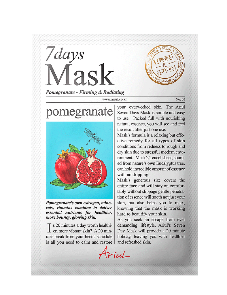 Seven Days Mask - Pomegranate 1pc