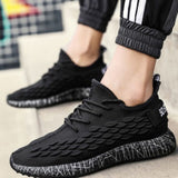 SHUJIN Man Sneakers Breathable Casual No-slip Shoes Lace Up Wear-resistant Summer Outdoor Sport Trainers Air Mesh Shoes