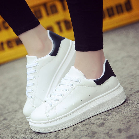Women Sneakers 2019 Women Caual Shoes Fashion White Sneaker Round Toe White Shoes Women Vulcanize Shoes Trainer Zapatillas Mujer