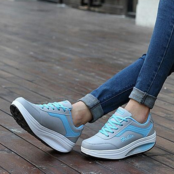 Women Sneakers high 2019 Platform Womens Casual Shoes Ladies Basket Femme Wedges Trainers Zapatillas Deportivas Mujer