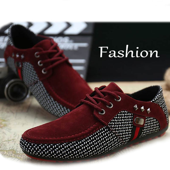 Luxury Men Flats Moccasins Shoes Male Formal Shoes Lace Up Casual Shoes Breathable Loafers Black Zapatos Hombre Plus Size 46