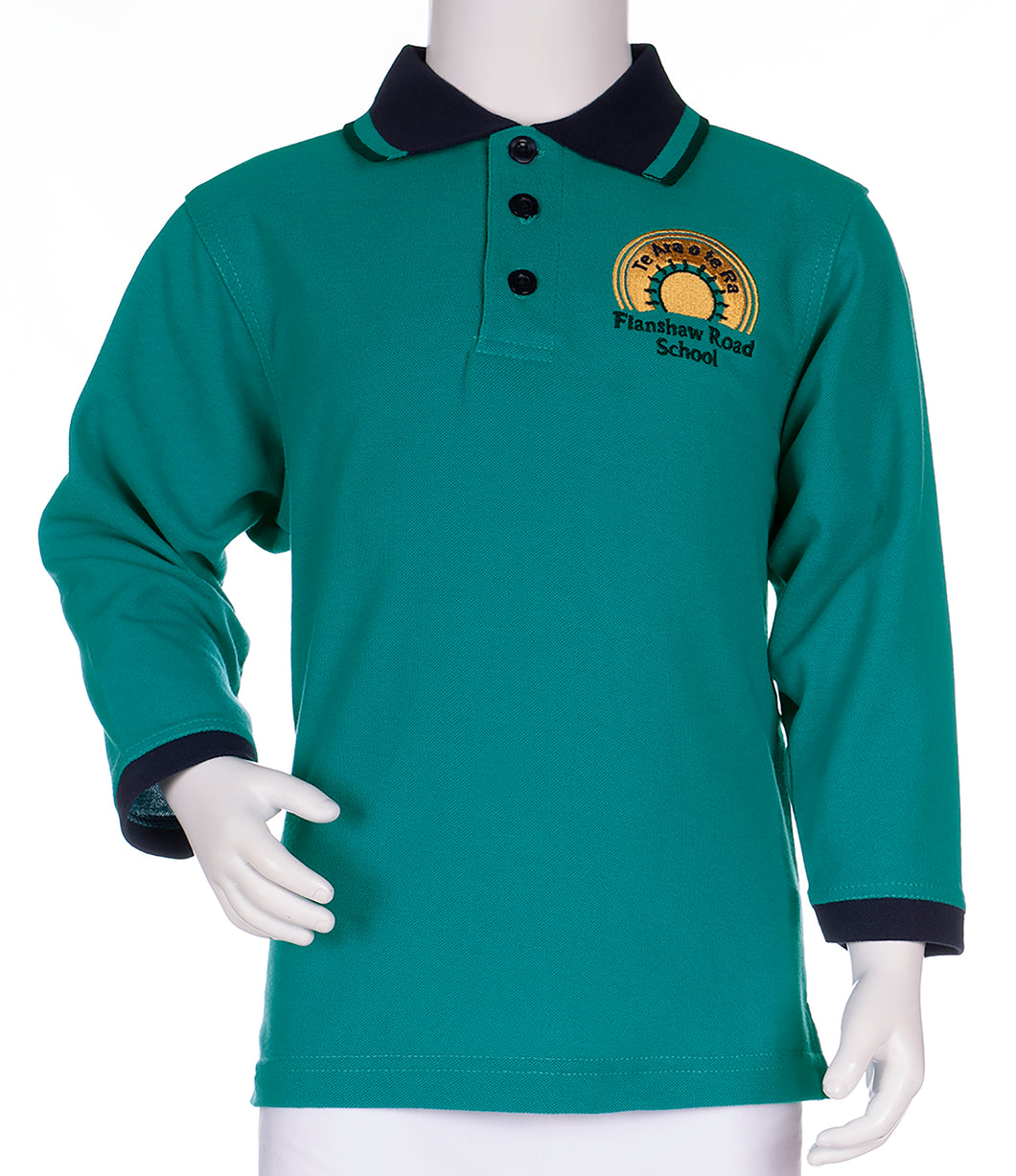 Flanshaw Rd School - Long Sleeve Polo Shirt