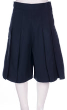 Load image into Gallery viewer, Glendowie Girls 4 Pleat Culottes - Navy