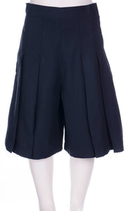 Glendowie Girls 4 Pleat Culottes - Navy