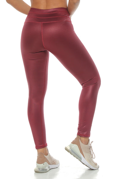 The Contour Leggings Burgundy