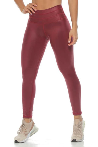 S0302 Contour Leggings Burgundy