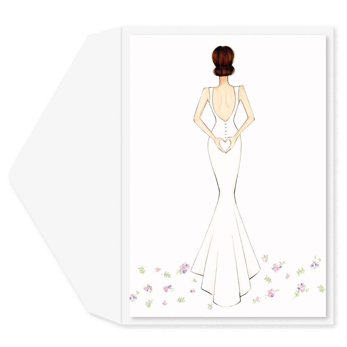 Bride Engagement Card