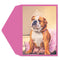 Queen Bulldog Greeting Card