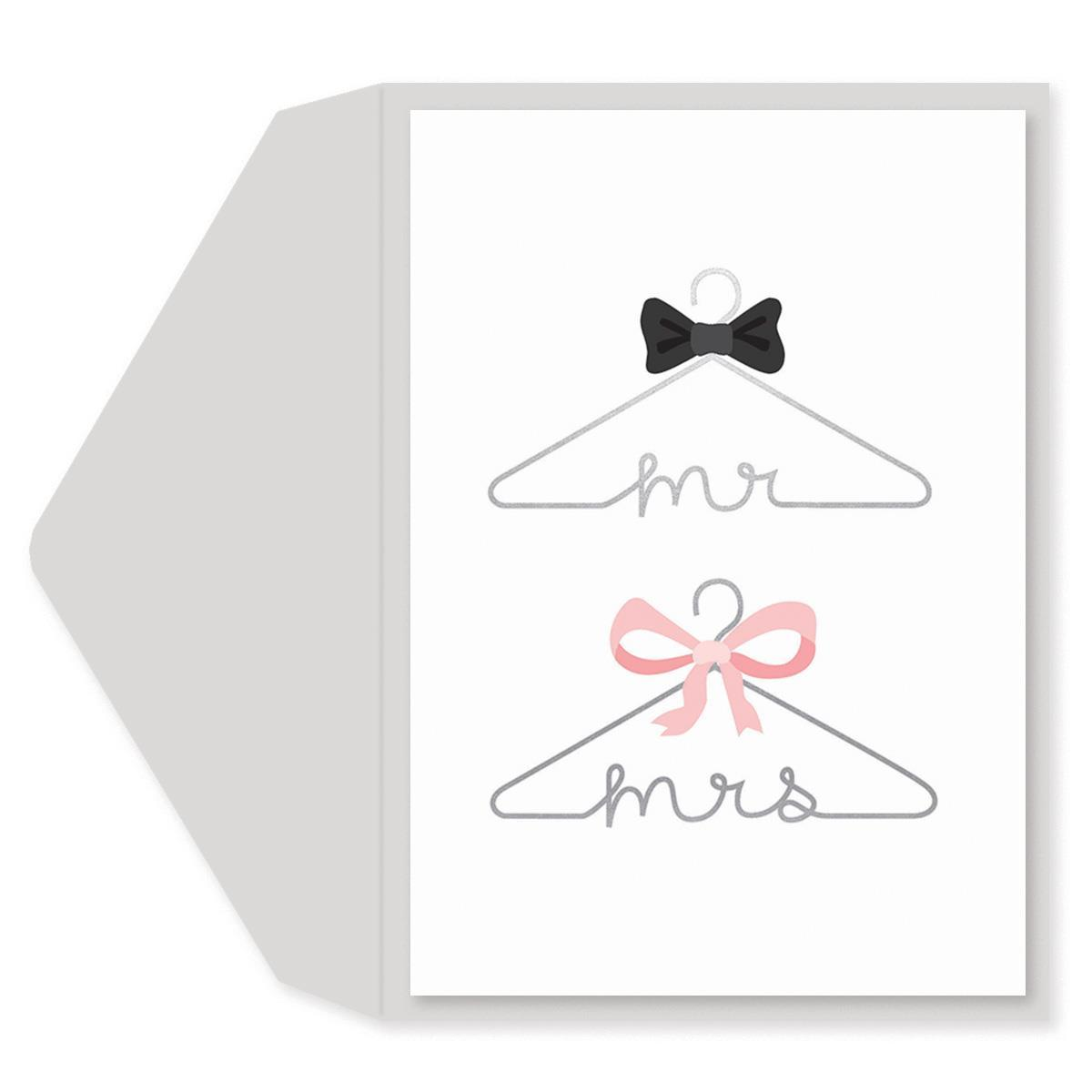Wedding Hangers Wedding Card