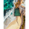 coogee beach aerial photography framed prints