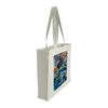 Side view of a medium tote bag featuring aerial photography of Ross Jones Rockpool in Coogee