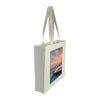 Side view of a medium tote bag featuring sunrise photography over Bronte Baths