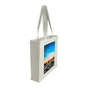 Side view of a medium tote bag featuring sunset photography at Cable Beach in Broome