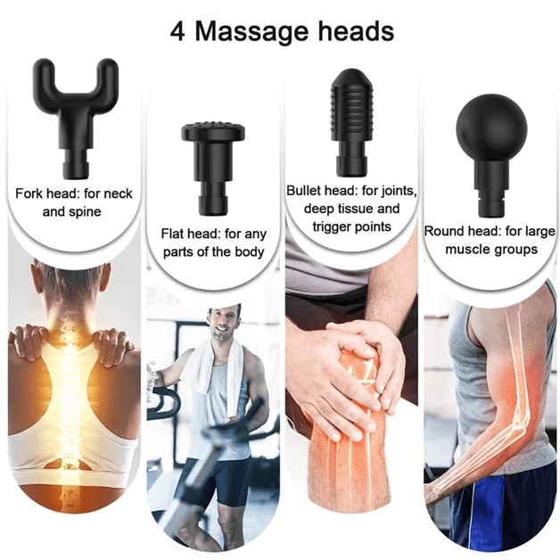 4 in 1 - Pain Relieving - 3 Speed Setting - Deep Muscle Massager - Last Day Promotion 80% Off