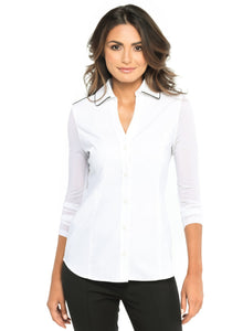 Beth Luxe Button Front Shirt