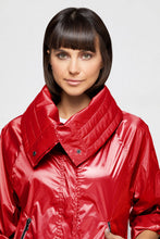 Load image into Gallery viewer, Casey Cropped Windbreaker In Atomic Red