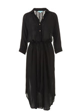 Load image into Gallery viewer, Alesha Black Long Shirt Dress