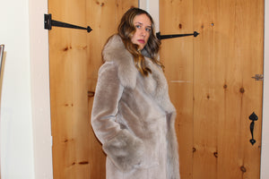 Women's Jacket  Astrakhan Lamb and fur  Attribute: Spumant  Made in Italy
