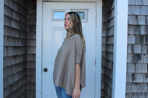 Turtle neck poncho One Size  Gretchen Neal Designs  100% Cashmere  Made it Italy