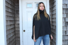 Load image into Gallery viewer, Turtle neck poncho One Size  Gretchen Neal Designs  100% Cashmere  Made it Italy