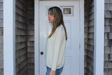 Load image into Gallery viewer, Cream scoop neck sweater 100% cashmere  Made in Italy