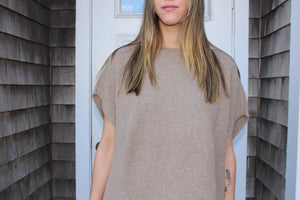 Oatmeal block sweater  100% cashmere  Made in Italy
