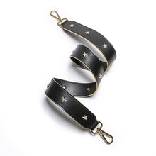Load image into Gallery viewer, Star Studded Black Leather Shoulder Strap