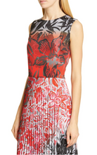 Load image into Gallery viewer, Fuzzi Dégradé Floral Pleated Midi Dress