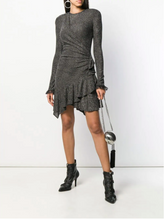 Load image into Gallery viewer, Metallic Knot Detail Dress