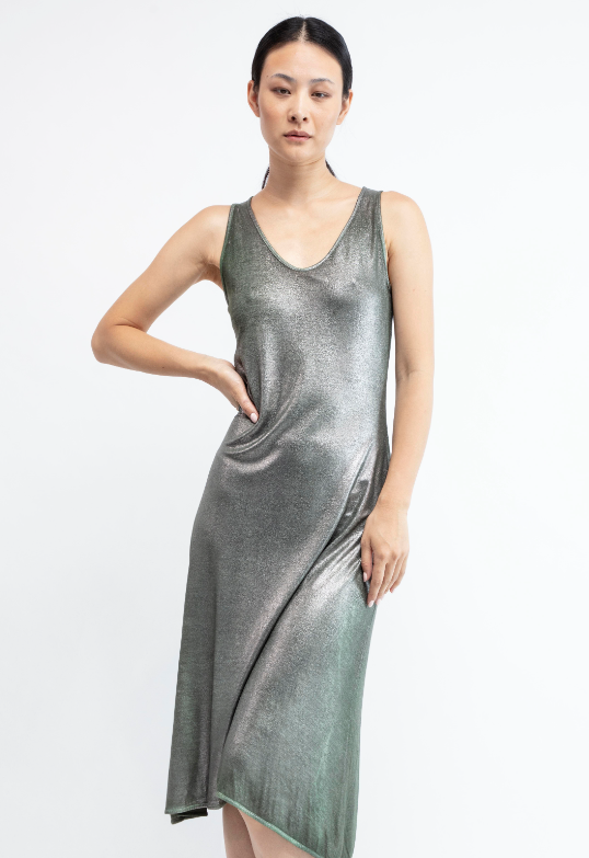 V neck micro modal midi dress  Safari   Pre order now! Receive your order by May 15th, 2021 the latest.