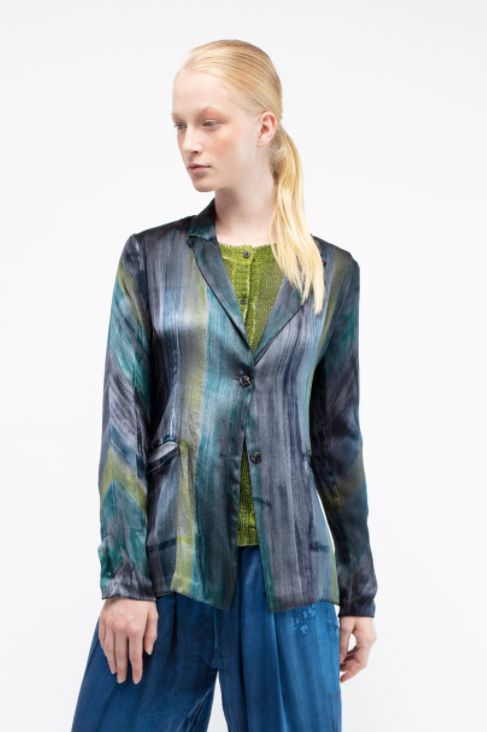 Rever silk jacket with multicolor brushes  Deep  Pre order now! Receive your order by May 15th, 2021 the latest.