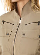 Load image into Gallery viewer, Madeline Zip-Front Cargo Jacket In Khaki