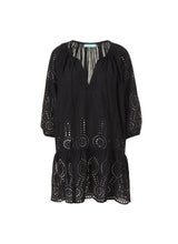 Load image into Gallery viewer, Ashley Black Short Kaftan
